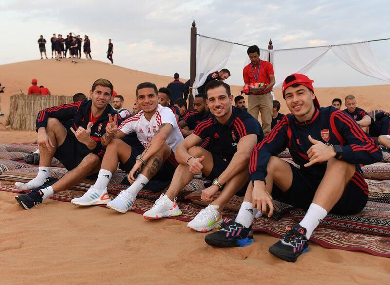 Arsenal players go on a desert safari in Dubai 2