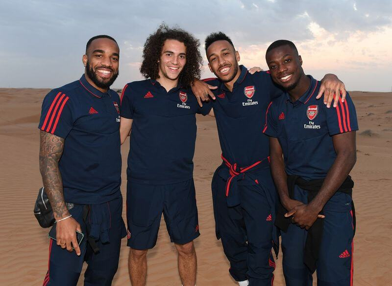 Arsenal players go on a desert safari in Dubai 1