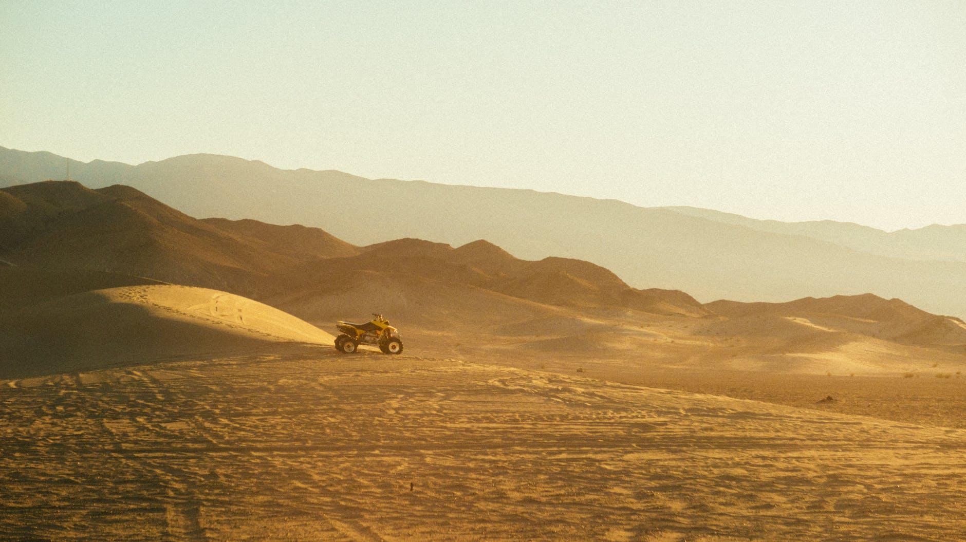 Quad Bike In Desert of Dubai